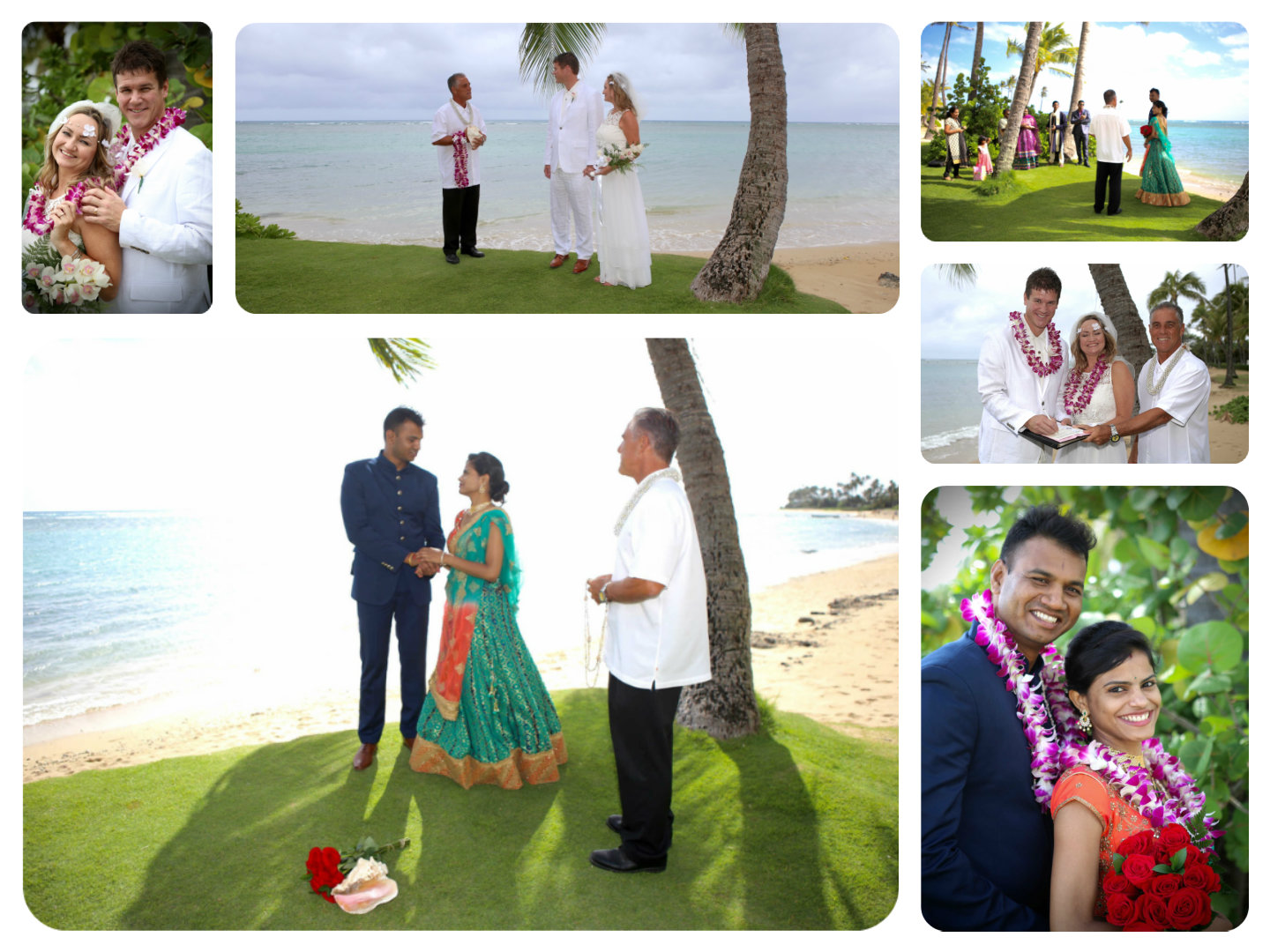 Simply delightful holiday Hawaii weddings