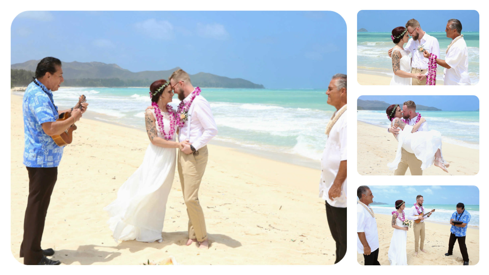 83eae8f3 For Caitlin and Adam, their Hawaii beach wedding was the happiest day of  their lives. On April 12, 2019 Adam realized they had a limousine service  and a ...